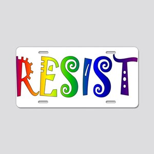 Rainbow Resist Trump Aluminum License Plate