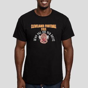 Cleveland football fan Men's Fitted T-Shirt (dark)