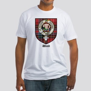 Wood Clan Crest Tartan Fitted T-Shirt