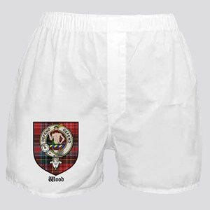 Wood Clan Crest Tartan Boxer Shorts