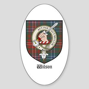 Wilson Clan Crest Tartan Oval Sticker