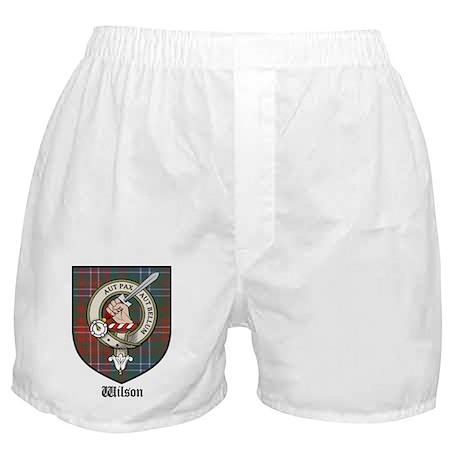 Wilson Clan Crest Tartan Boxer Shorts