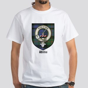 Willis Clan Crest Tartan White T-Shirt