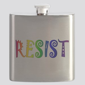 Rainbow Resist Trump Flask