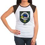 Wier Clan Crest Tartan Women's Cap Sleeve T-Shirt