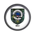 Wier Clan Crest Tartan Wall Clock