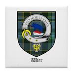 Wier Clan Crest Tartan Tile Coaster