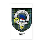 Wier Clan Crest Tartan Rectangle Sticker