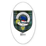 Wier Clan Crest Tartan Oval Sticker