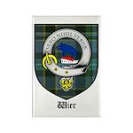 Wier Clan Crest Tartan Rectangle Magnet (10 pack)