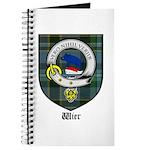 Wier Clan Crest Tartan Journal