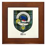 Wier Clan Crest Tartan Framed Tile