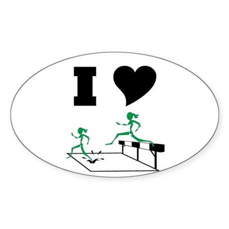 SteepleChics Oval Sticker