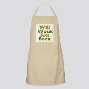 Will Work For Beer BBQ Apron
