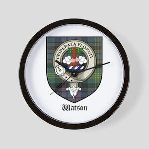 Watson Clan Crest Tartan Wall Clock