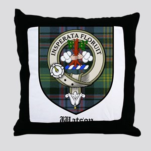 Watson Clan Crest Tartan Throw Pillow