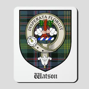 Watson Clan Crest Tartan Mousepad