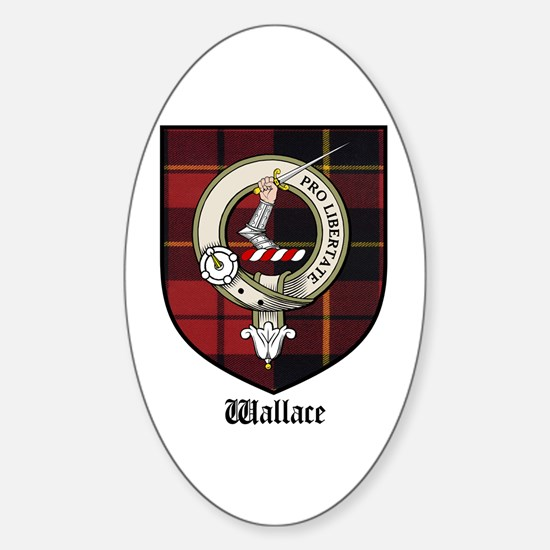 Wallace Clan Crest Tartan Oval Decal