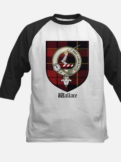 Wallace Clan Crest Tartan Kids Baseball Jersey