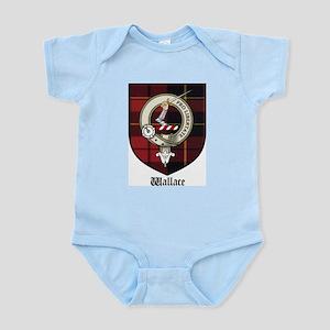 Wallace Clan Crest Tartan Infant Creeper