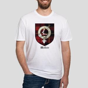 Wallace Clan Crest Tartan Fitted T-Shirt