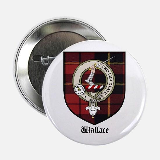 """Wallace Clan Crest Tartan 2.25"""" Button (10 pack)"""