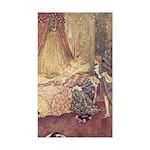 Dulac's Sleeping Beauty Rectangle Sticker
