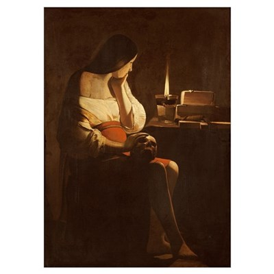 Mary Magdalene with a night light, 1630-35 (oil on Poster