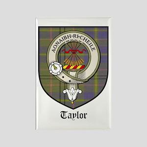 Taylor Clan Crest Tartan Rectangle Magnet (10 pack