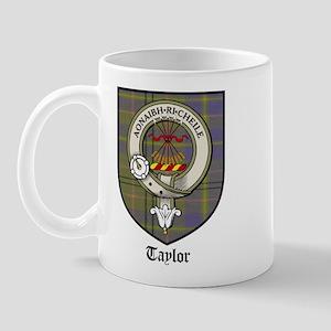 Taylor Clan Crest Tartan Mug