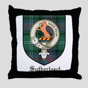 Sutherland Clan Crest Tartan Throw Pillow