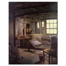 The Breton Weaver, 1888 (oil on canvas) Poster