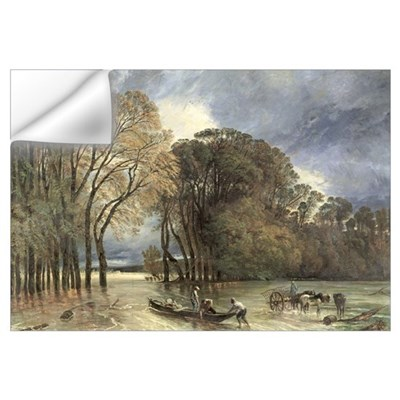 The Flood at Saint-Cloud, 1855 (oil on canvas) Wall Decal