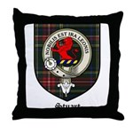 Stuart Clan Crest Tartan Throw Pillow