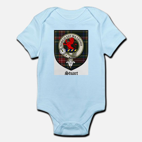 Stuart Clan Crest Tartan Infant Creeper