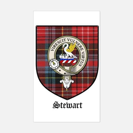Stewart Clan Crest Tartan Rectangle Decal