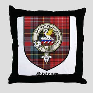 Stewart Clan Crest Tartan Throw Pillow