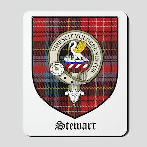 Stewart Clan Crest Tartan Mousepad
