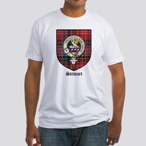 Stewart Clan Crest Tartan Fitted T-Shirt