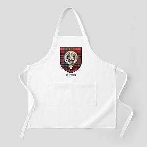 Stewart Clan Crest Tartan BBQ Apron