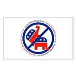 Stop Breeding Hate Rectangle Sticker