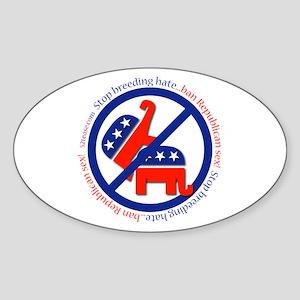 Ban GOP Sex Oval Sticker