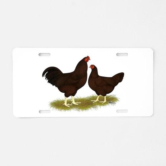 Buckeye Chickens Aluminum License Plate
