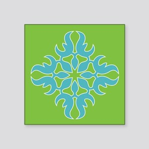 Blue Jade Tropical Quilt Square Sticker