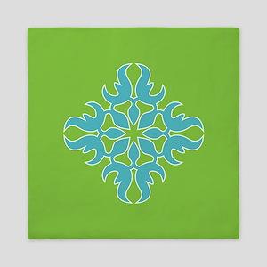 Blue Jade Tropical Quilt Square Queen Duvet