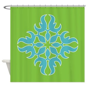 Jade Green Shower Curtains