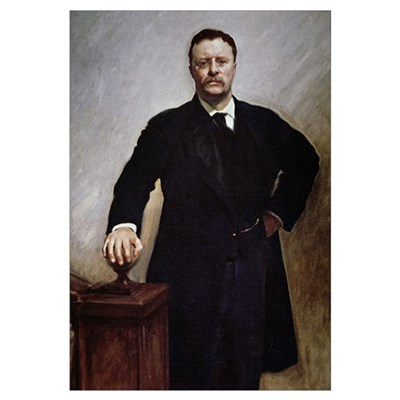 Theodore Roosevelt (colour litho) Framed Print