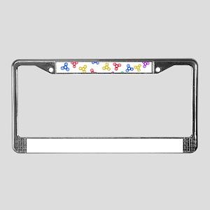 Fidget Spinners License Plate Frame