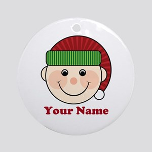 Personalized Christmas Elf Ornament (Round)