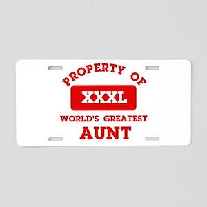 Property of Aunt Aluminum License Plate